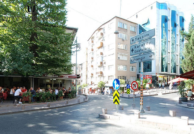 Cihangir square in Istanbul, Turkey