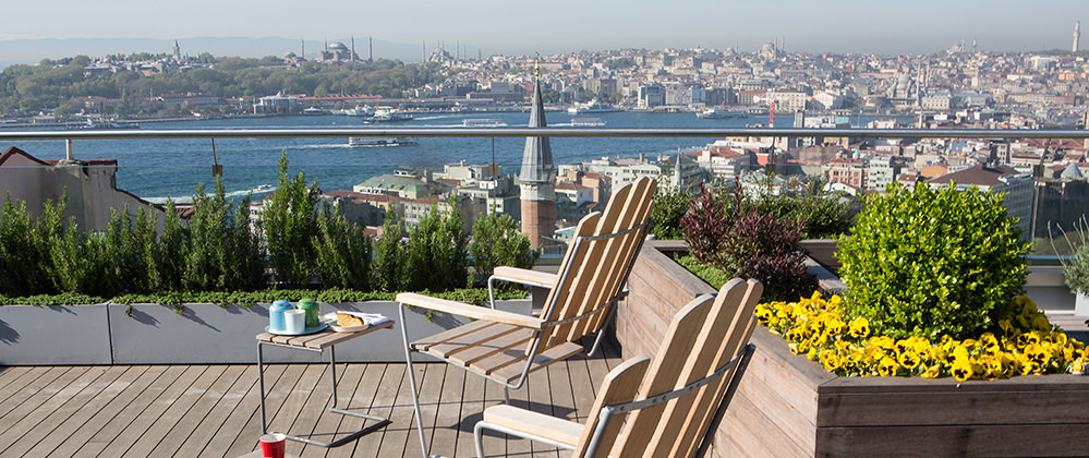 Enjoy The Permaculture Roof Garden At Witt Istanbul Hotel